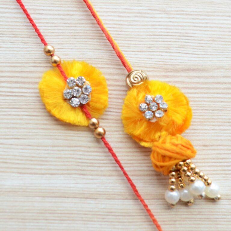 Simple Lumba and Rakhi Gift Set  