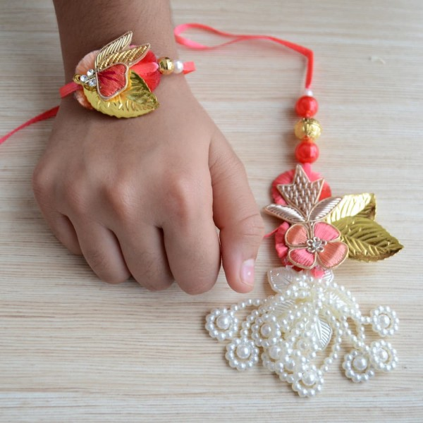 Premium Rakhi and Lumba set for Bhaiya Bhabhi