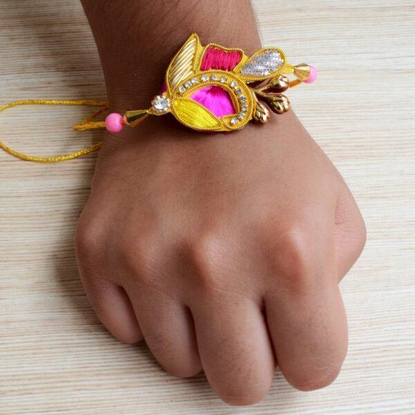 Raksha Bandhan Ethnic Rakhi with Gold Plated Bracelet Gift for Brother | Raksha Bandhan Ethnic Rakhi with Gold Plated Bracelet Gift for Brother |