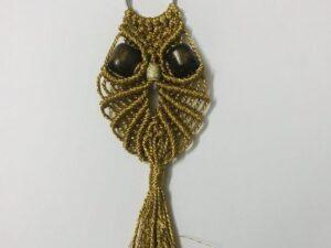 Macrame Owl Keychain