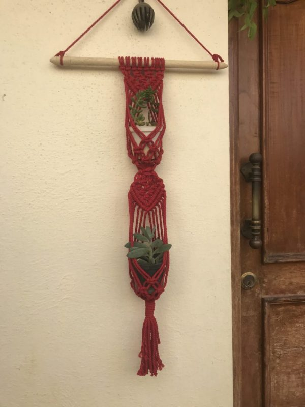 Macrame Double Pot Hanger