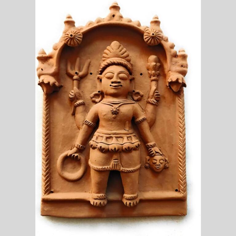 Spiritual Terracotta Bhairava Lok Devta Plaque