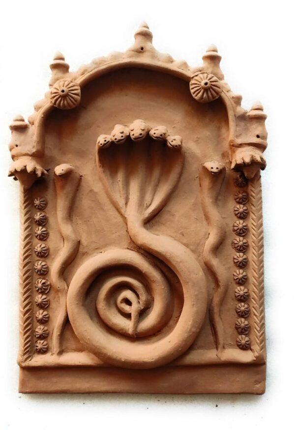 Nag Devta Molela Terracotta Plaque