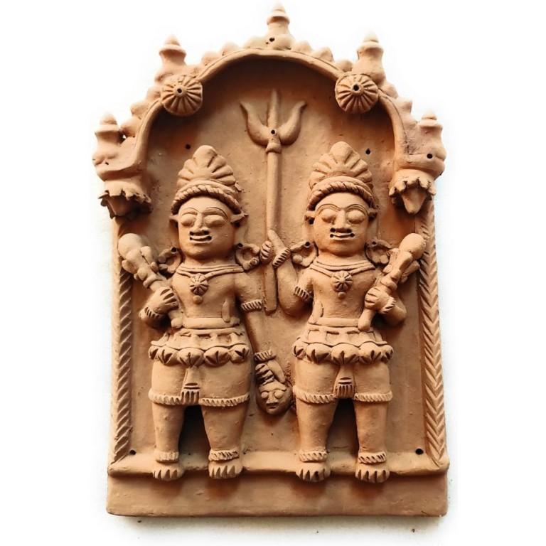 Bhairav Kala Gora Terracotta Plaque