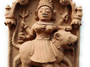 Durga Mata Molela Terracotta Plaque