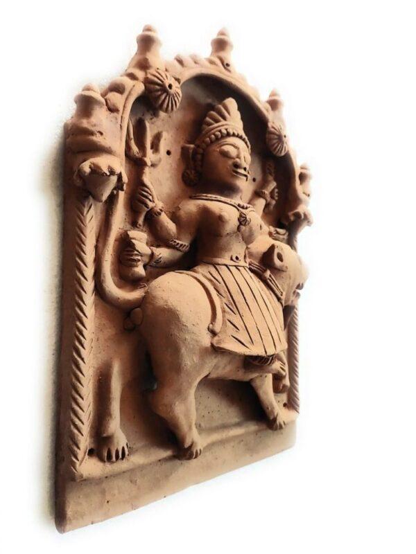 Molela Terracotta Durga Mata Plaque | Terracotta Durga Mata Plaque |