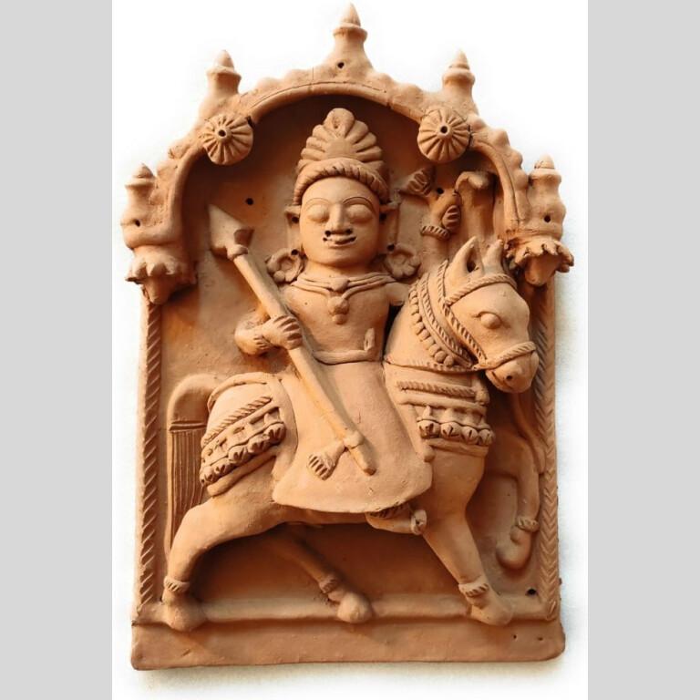 Dharamraj God Molela Terracotta Plaque   Dharamraj God Molela Terracotta Plaque  
