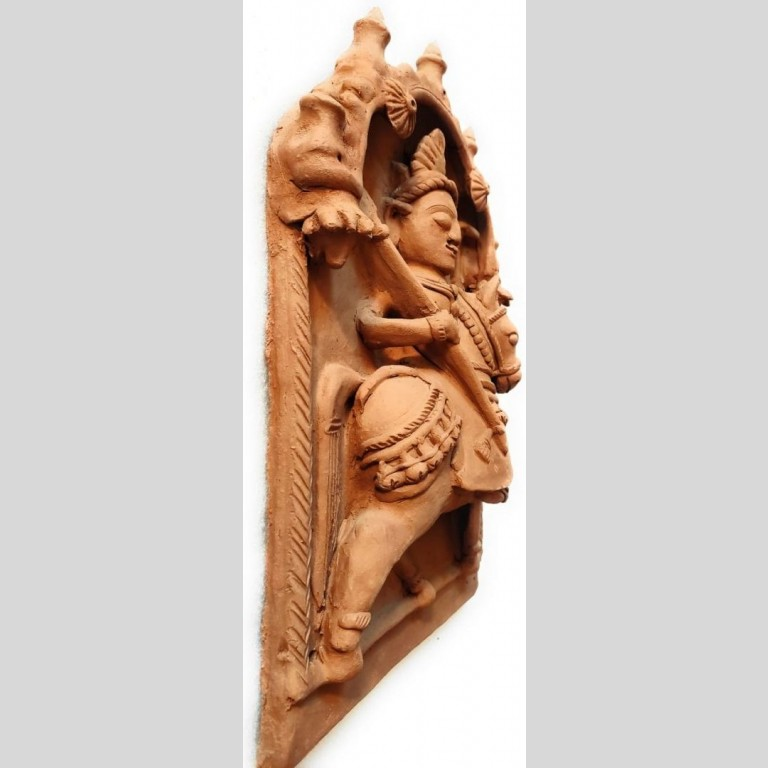 Molela Terracotta Dharamraj God Plaque