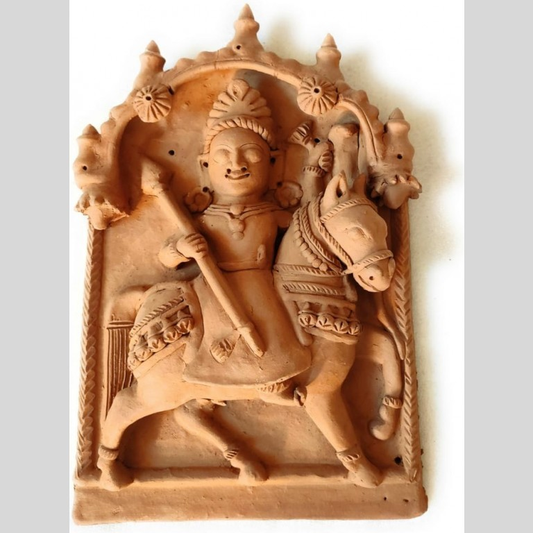 Dharamraj God Molela Terracotta Plaque