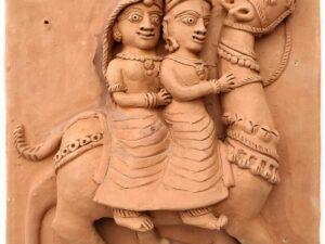 Molela Terracotta Dhola Maru Plaque