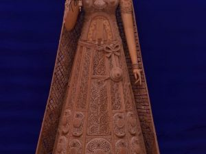 Sandalwood Carved Rajasthani Doll