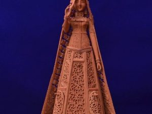 Rajasthani Doll Sandalwood Carving