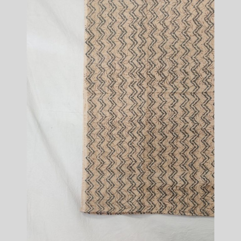 Sanganeri Print on hand woven cotton fabric stole.
