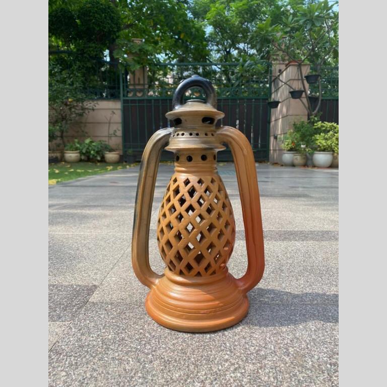 Designer Terracotta Double Baked Lantern