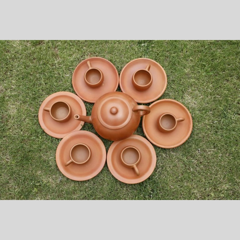 Terracotta Designer Tea Set