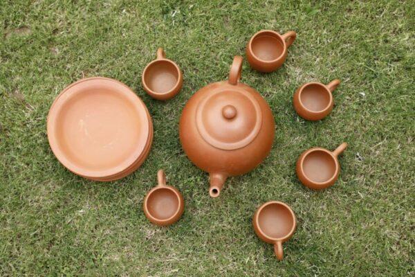 Terracotta Designer Tea Set   Terracotta Designer Tea Set  