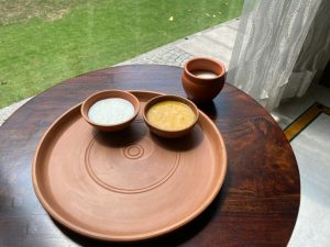 Terracotta Dinner Set with Thali