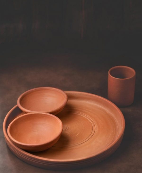Terracotta Dinner Set with Thali