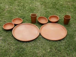 Terracotta Dinner Set with Plate