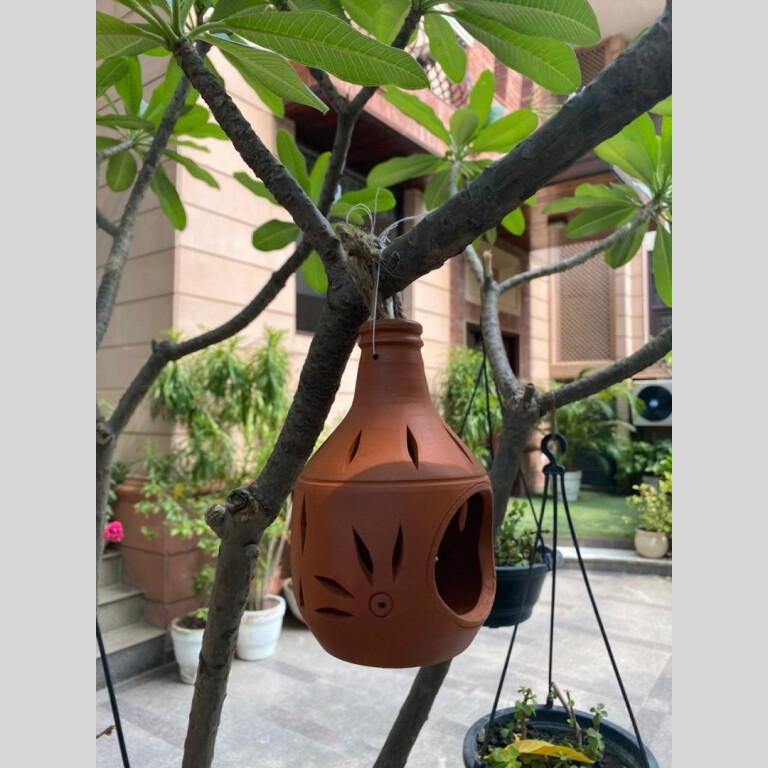 Terracotta Hanging Candle Light Holder | Terracotta Hanging Candle Light Holder |