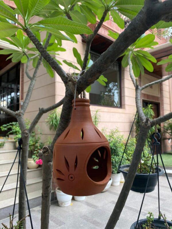 Terracotta Hanging Candle Light Holder