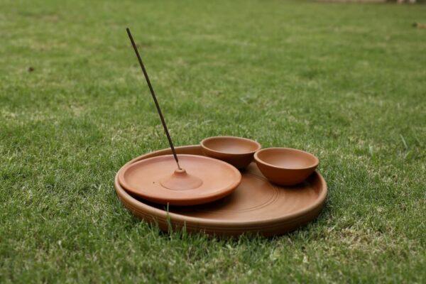 Terracotta Puja Set