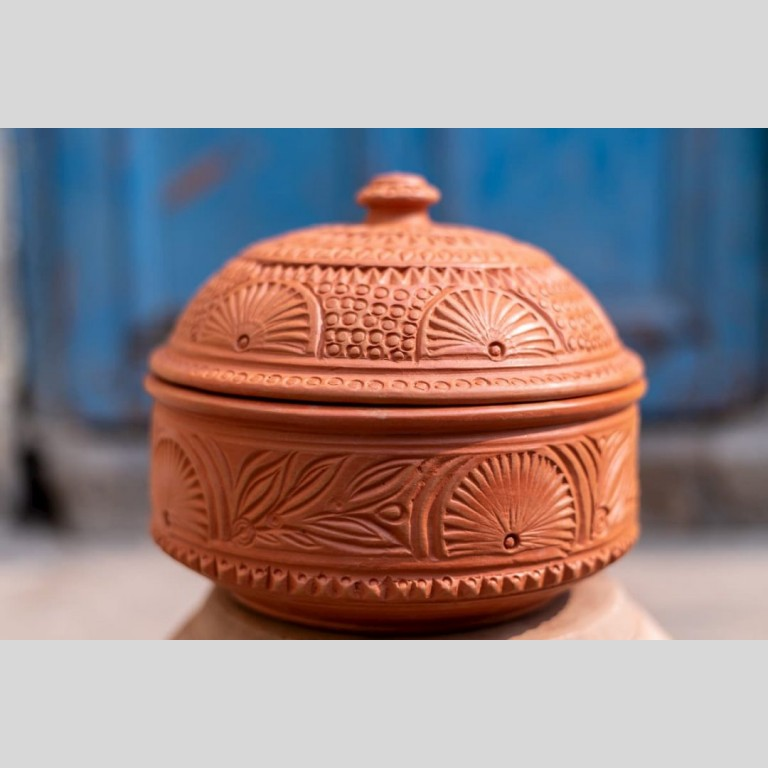 Designer Terracotta Roti Box