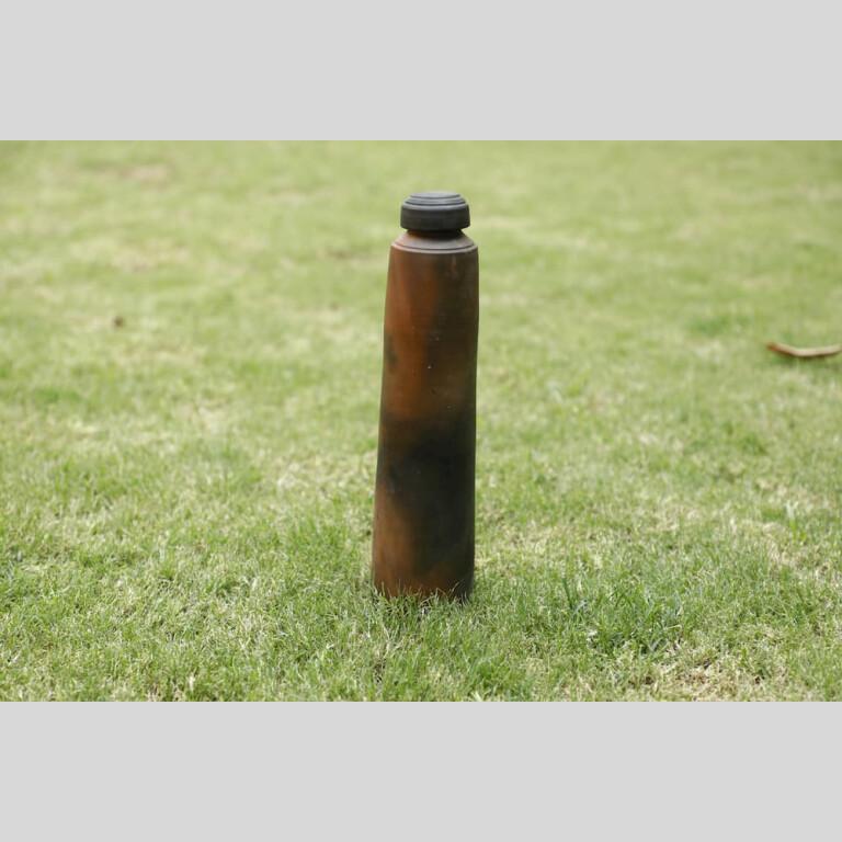 Terracotta Straight Bottle-Double Baked