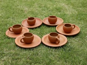 Terracotta Tea Cup Set