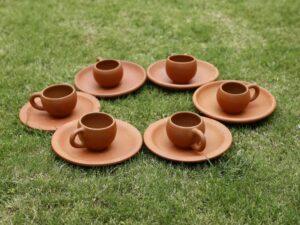 Terracotta Tea Cup Set