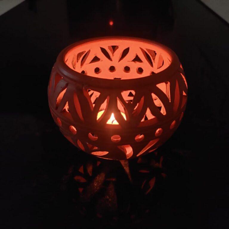 Terracotta Tea Light Candle Holder