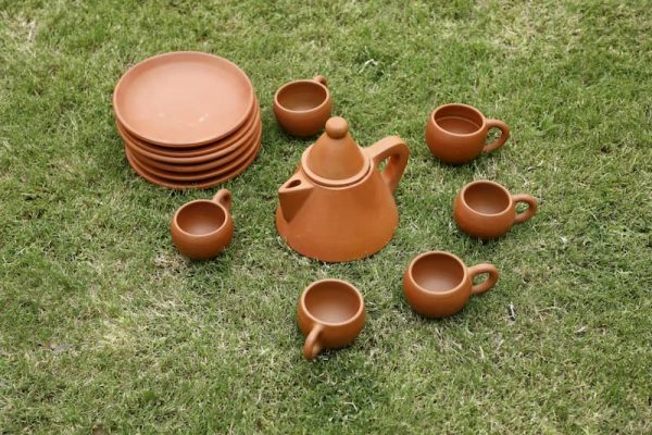 Terracotta Tea Set Conical