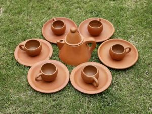 Terracotta Conical Tea Set