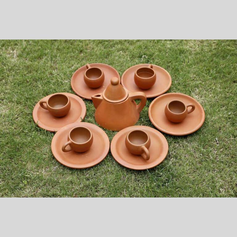 Terracotta Conical Tea Set