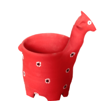 Blooming Rose Giraffe Flower Pot