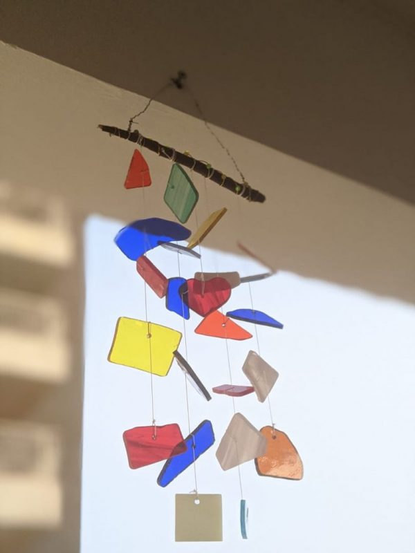 Stained Glass Rainbow Windchime | Stained Glass Rainbow Windchime |