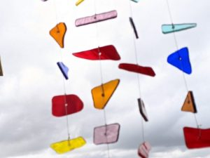 Stained Glass Rainbow Windchime