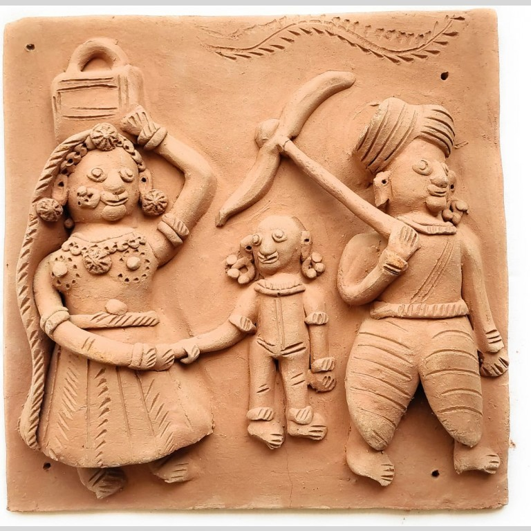 Molela Terracotta Plaque (Set of Four)