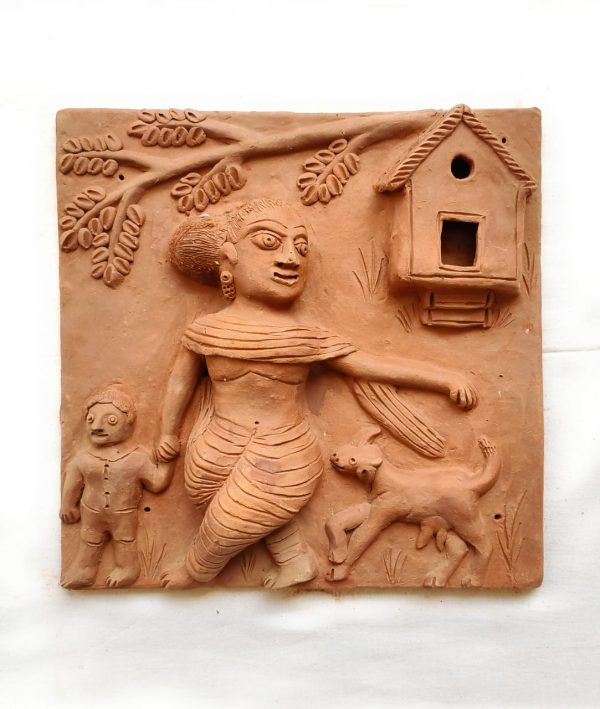 Molela Terracotta Plaque (Set of Four)