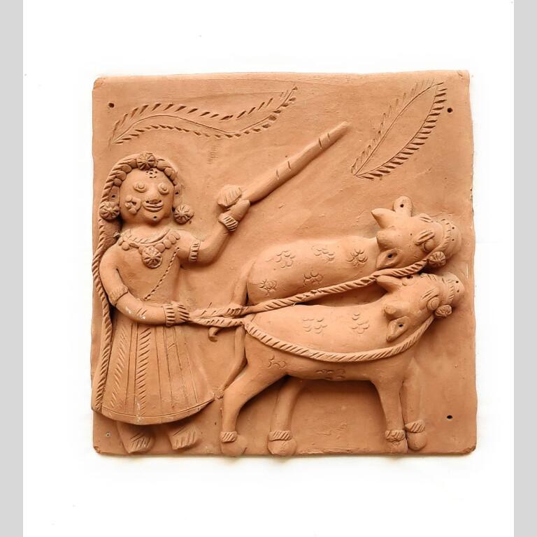 Krishna Terracotta Plaques (Set of 4) | Krishna Terracotta Plaques |