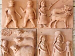 Krishna Terracotta Plaques