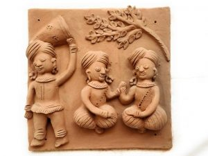 Terracotta Plaques (Set of Four)
