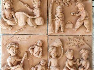 Terracotta Plaques (Set of Four)