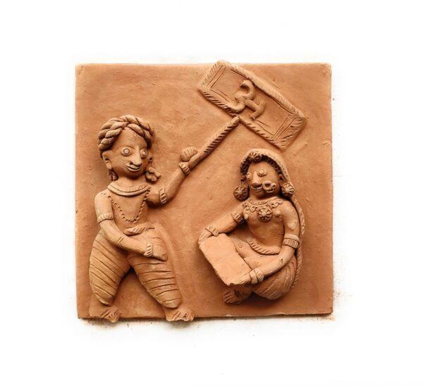Handmade Clay Plaques (Set of Four)