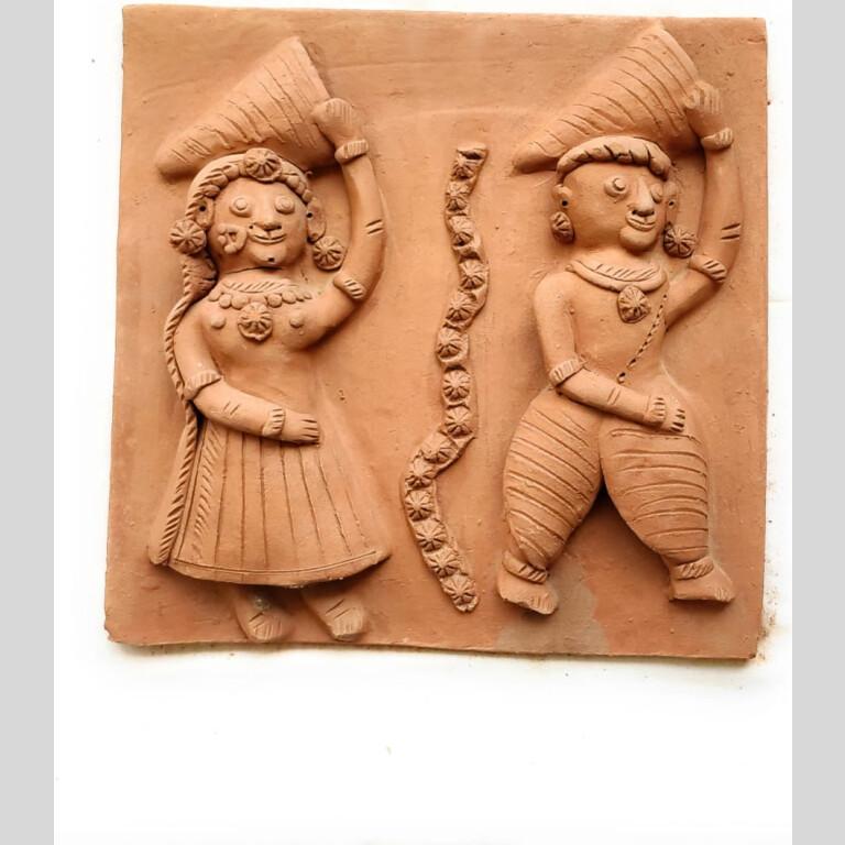 Handmade Clay Plaques (Set of Four)Handmade Clay Plaques (Set of Four)