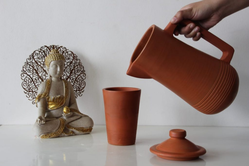 Eco-friendly Terracotta Water Jug with Lid ( 1.5L) | Eco-friendly Terracotta Water Jug |