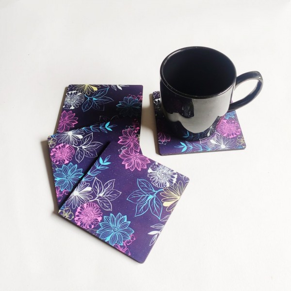 Colourful Floral Coasters   Colourful Floral Coasters  