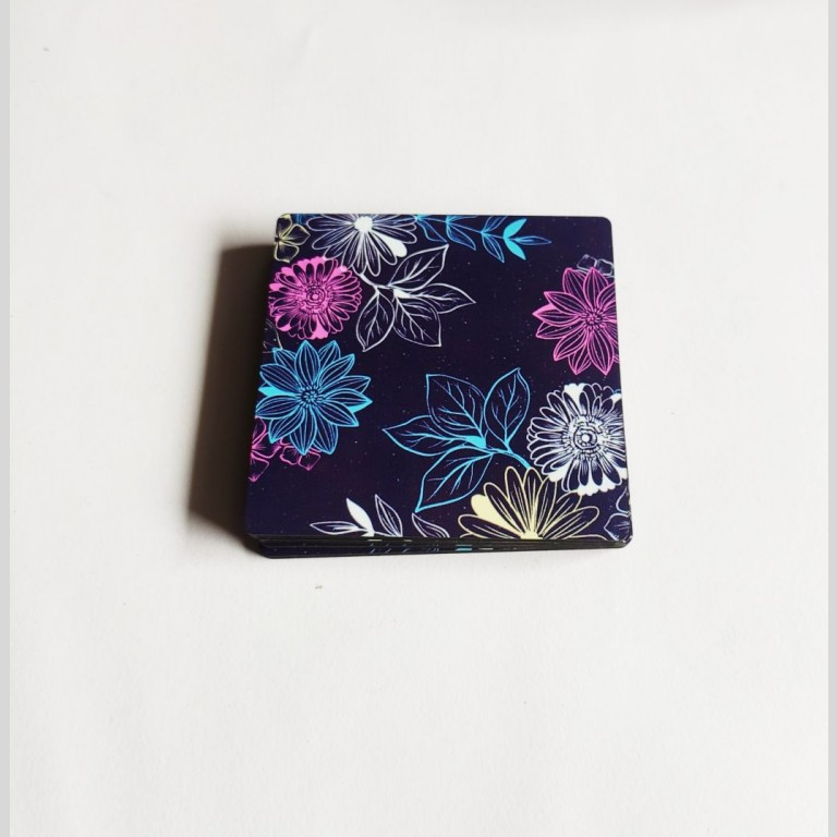 Colourful Floral Coasters | Colourful Floral Coasters |