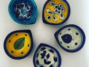 Ceramic Diyas Set of 4