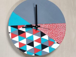 Geometric Resin Wall Clock